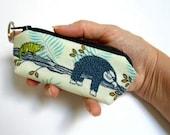 Mini Key Chain Zipper Pouch ECO Friendly Padded Lip Balm Case NEW Sloth Days