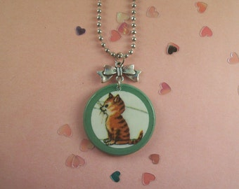 Kitten Bow Necklace