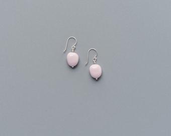 Ceramic cobblestone earrings, Minimalist earrings Simple earrings Everyday earrings Porcelain earrings Girlfriend gift Sweet16 - boohua