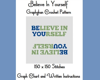 Believe In Yourself - Graphghan Crochet Pattern