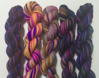 Purple Haze - 5 Koigu KPPPM sock yarn mini skeins