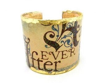Cuff Bracelet, Bracelet Cuff,  Decoupage Bracelet, Decoupage Cuff, Fairy Tale Jewelry, Happily Ever After, Once Upon a Time, By Durango Rose