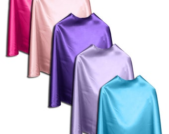 "Children's Super hero capes 5 Pack (you pick color): 22"" capes ages 2-10 - superhero bulk capes - superhero dress up"