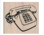 rubber  stamp  Telephone Pushbutton Phone 8048   mounting options wood mounted, unmounted or cling stamps