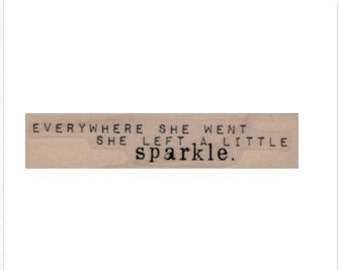 rubber stamp glitter   quote stamps  number 19919 stamping supplies