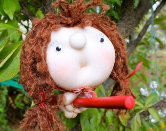 Rhedyn the Kitchen Witch - Kitchen Witch Doll - Herb Witch - Green Witch - Good luck doll for your kitchen!
