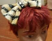 Cat Lady Diamond Bling Handmade Giant Bow Headband by IM.BUTTERFLYCREATIONS