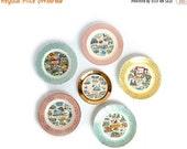 Flash Sale Your Choice vintage State Plate - Road Trip Souvenir Plates - Pastel Gold filigree - cottage kitsch