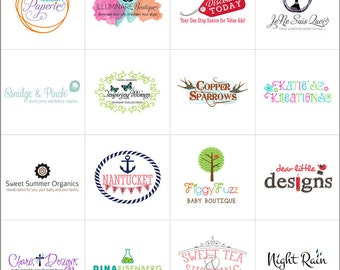 Custom Logo Branding Graphic Design, Small Business Logo, Childrens Boutique Logo, Jewelry Logo, Bath and Body Logo