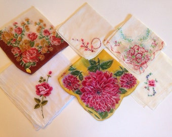Vintage hankies-set of 6