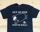 Out Of Step With The Bureau - Minor Threat / Files Tee Shirt