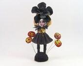 Vintage Inspired Spun Cotton Halloween Flower Girl Limited Edition Figure