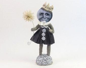 Spun Cotton Vintage Inspired Illusionist Moon Girl Figure