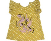 Jungle Cats soft organic cotton dress Ready to ship