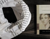 Seconds SALE - Captain Wentworth's Letter - Persuasion scarf - white with black ink - Jane Austen