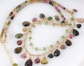 Layered Tourmaline & Vesuvianite Necklace