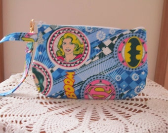 Clutch Zipper Wonder Woman Gadget Pouch Wristlet Smart Phone Bag SuperHero DC