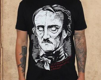 Edgar Allan Poe - A dream within a dream - portrait - discharge ink