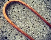 Hammered Copper Hair Fork Hairpin Barrette, hammeredhair fork, metal hair pin, hair stick, hair clip, hair accessories, woman