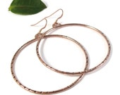 Rose Gold Forever Hoops, Earrings, 14k Gold Filled, Minimalist Jewelry for Her (ID-121115f)