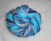 Turquoise-Navy-Gray slimmer Thick n Thin  Merino 65 Super Bulky yards 4.2 oz