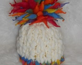 Primary Giant Pom Size 1-3 yrs Hat Photography Prop Ready to Ship