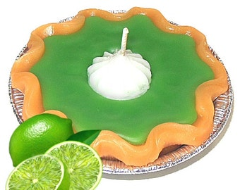 3 Inch Keylime Pie Candle Tart Lime Scent Hostess Gift