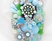 Half Off Sale Hand Mirror - Opaline Garden - Personalization Available - M001031