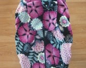 Fuscia floral fleece infant car seat cover