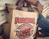 Farmall CASE IH - Old School American Heritage - Tractors - Canvas & Leather Shopper Tote Large ... Selina Vaughan