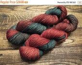 ON SALE Closer Than You Think - Yakety Yak Hand Dyed Christmas Yarn, Fingering weight yak merino silk yarn - IN Stock