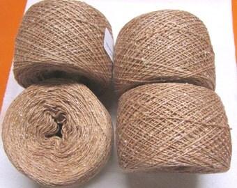 tussah silk yarn rolled into balls 500 yards per ball