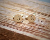 Personalized Initial Cuff Links Custom Monogram