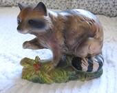 Napco Woodland Raccoon Figurine
