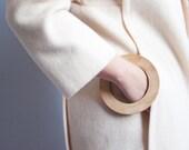 treasure of sierra madre wooden bangle / wide disc bangle / wide bracelet / flat oversized bangle / 890a
