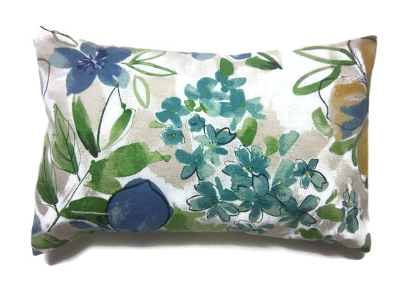 Small Green Decorative Pillow : Decorative Pillow Cover Lumbar Navy Blue Teal by LynnesThisandThat