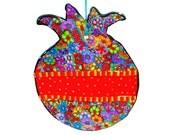 Wall hanging  pomegranate, Jewish art , Jewish symbol, Judaica , Judaica art, pomegranate decor,Pomegranate wall decoration, Pomegranate art
