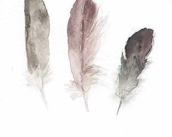 Three small feathers