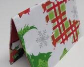SAMPLE SALE - Passport Cover Case Travel Holder - Scotty Scottie Scottish Dog Christmas Fabric
