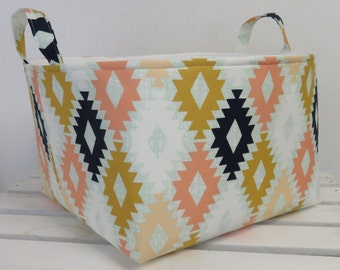 Large Diaper Caddy - Storage Bin Basket Container Organizer with divider - Agave Field - Arizona Collection by April Rhodes
