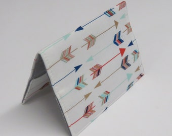 READY TO SHIP - Passport Holder Cover Case Cruise Holiday Travel Holder - Multi Color Arrows on White
