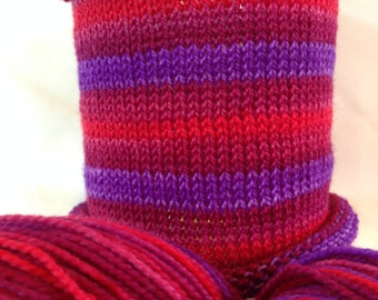 None Have Seen The Blade: Hand-dyed gradient self-striping sock yarn, 80/20 SW merino/nylon