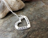Believe Magic Power Sterling Silver Heart Believe Power Magic charm  beaded chain necklace charm 3