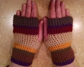 Doctor Who Scarf Inspire Fingerless Gloves