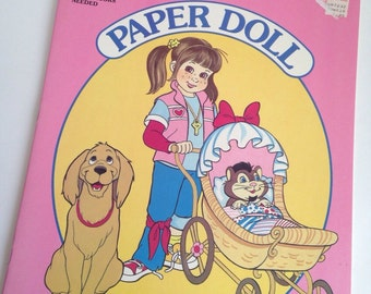 Punky Brewster - 1980's kid paper doll book - unpunched
