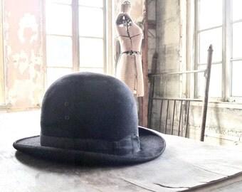 Vintage Bowler Hat Size 6-7/8