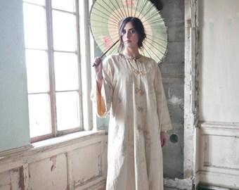 1920s Silk Kimono Evening Coat Medium Size