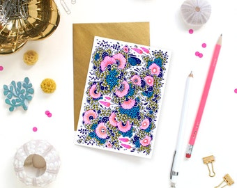 Card - Note Card - Pink Floral