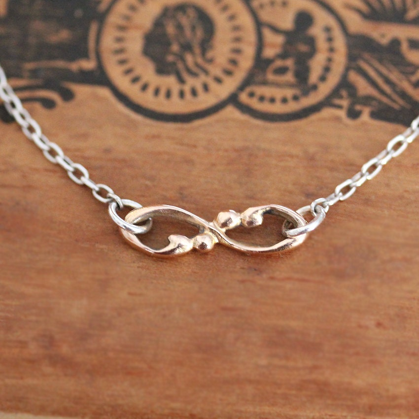 rose gold infinity necklace 14k gold infinity charm necklace