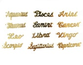 Gold Plated Astrological Name Plate Pendants - All 12 Signs - (12X) (A604-C)